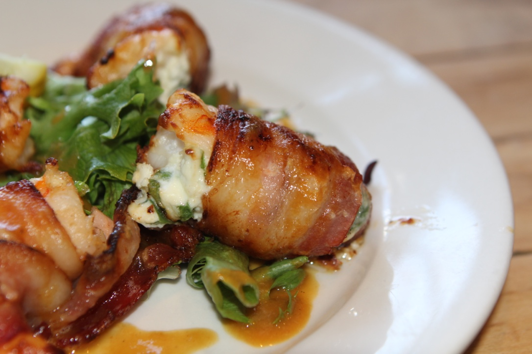 Bertha's Bacon Wrapped Jumbo Pelican Shrimp